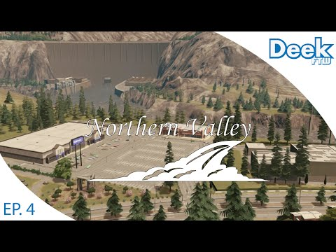 Let's Design Northern Valley Ep.4 - Building a Recycling Center and Shopping Plaza - Cities Skylines
