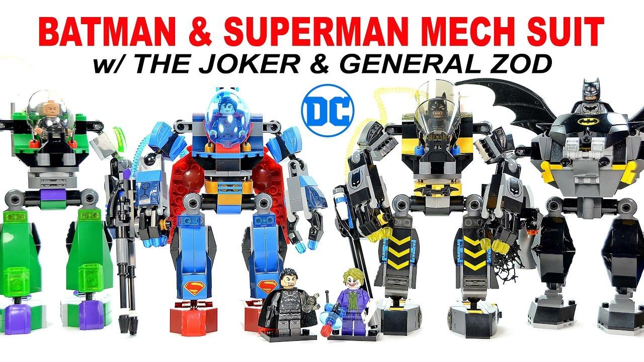 Batman & Superman Mech Suit w/ The Joker & General Zod ...