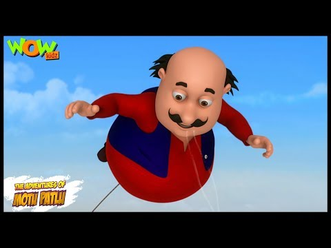 Motu Patlu New Episodes  Cartoons  Kids TV Shows  Udta Motu   Wow Kidz