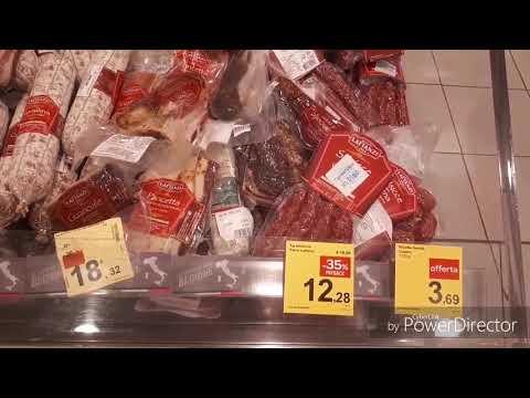 Рим 2019. Цены на продукты в супермаркете Carrefour.