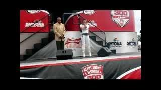 XFINITY Alert 300 National Anthem Daytona 2 21 2015 Sung by Shari Frink
