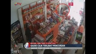 Viral Video Aksi Komplotan Pencuri Bersama Gadis Cilik Dibawah Umur yang Terekam CCTV - BIM 10/04