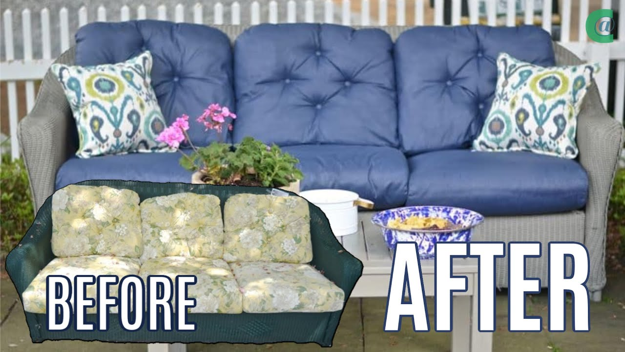 How To Paint Patio Cushions Youtube