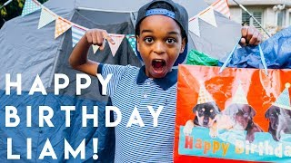 Birthday Camping Adventure AT HOME! 🎉 Liam Turns 12!