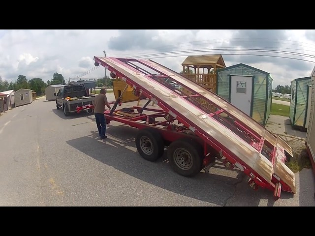 Shed Moving Trailer Moving A 12x24 At Handihouse Of Oak Grove Lexington Sc