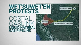 What is the Wet'suwet'en Nation protesting?