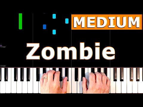The Cranberries - Zombie - Piano Tutorial Easy - How To Play (Synthesia)