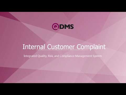 QDMS - Internal Customer Complaints And Graphical Reports