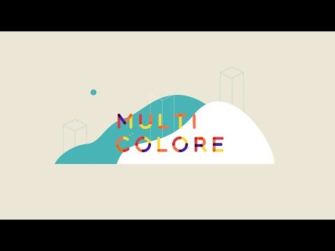 Multicolore Animated Typeface