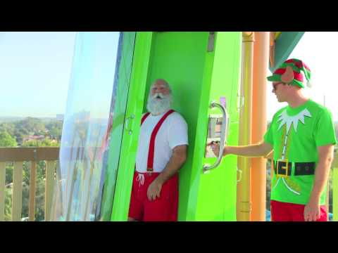 Where does Santa Claus Practice Chimney Sliding?   SeaWorld Orlando