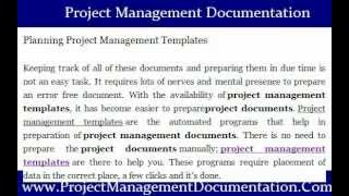 Planning Project Management Templates