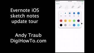 Evernote iOS App Sketch Tool Tour