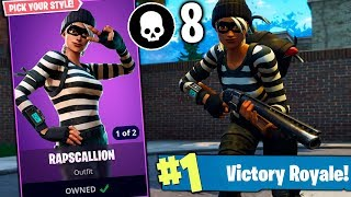 BEST GAME WITH NEW SKIN RAPSCALLION AT FORTNITE!