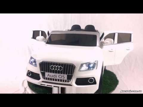 Детский электромобиль Джип M 3290 EBLR-1 Audi, кожаное сиденье, белый - дисней.com.ua