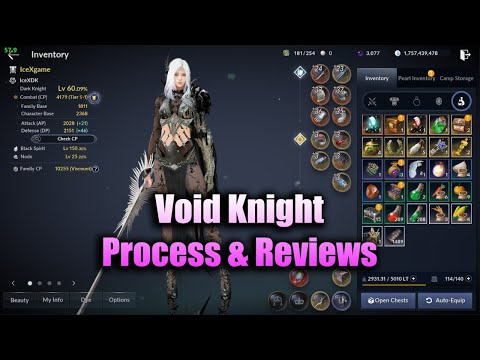 Black Desert Mobile Void Knight Process & Reviews