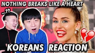 [ENG SUB]🔥🔥 KOREAN BOYS React To MARK RONSON x MILEY CYRUY - Nothing Breaks Like A Heart Video