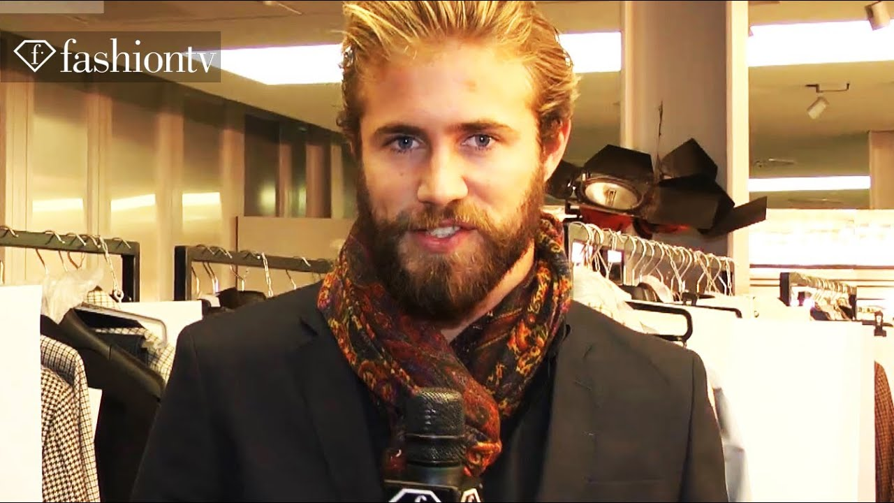 495ce73d Ermenegildo Zegna Men Fall/Winter 2012-13 Backstage: Urban Man Goes To The  Mountains | FashionTV FTV