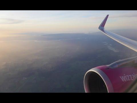 (4K) Wizzair Airbus A320 Sharklets flight video, London Luton to Szczecin - W62164