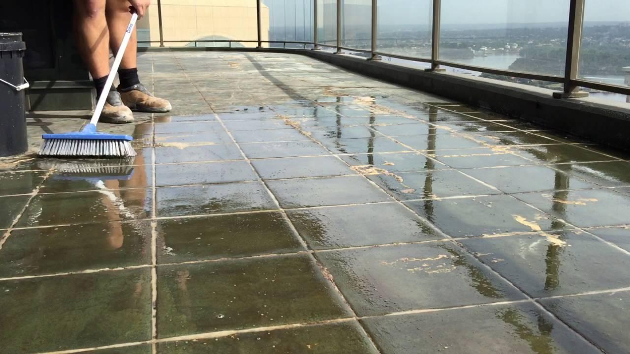 Efflorescence Buildup On Ceramic Balcony Tile Youtube