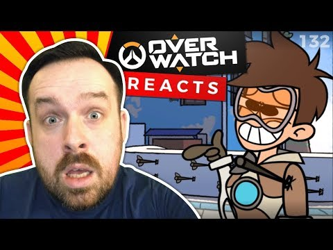 Reaction Meet the Amazing Tracer  Overwatch Cartoon