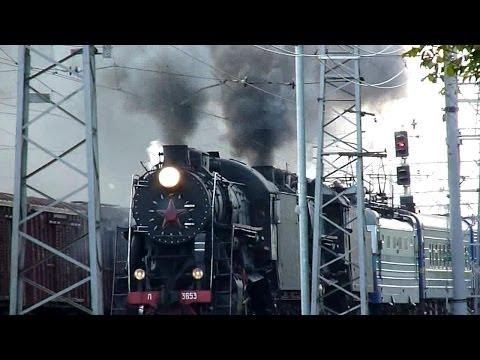 Steam Locomotives Паровозы Л-3653 и Л-2344 26.08.13