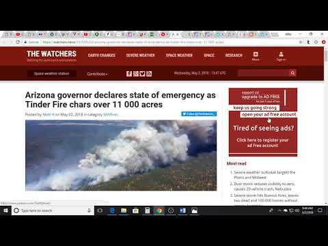 *Arizona State Of Emergency*Hawaii Eruption*Washington Lands