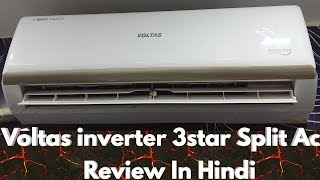 Voltas Split 3star 1 ton inverter Ac Specification Features Price Review in hindi