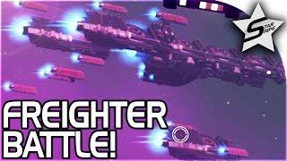 FREIGHTER BATTLE!! - No Man's Sky FOUNDATION UPDATE Gameplay Part 3 Update 1.1