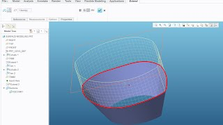 Quick Tutorial - Surface modeling with Creo Parametric 3.0