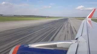 Красивый взлет  Airbus A320 из Шереметьево в  Казань