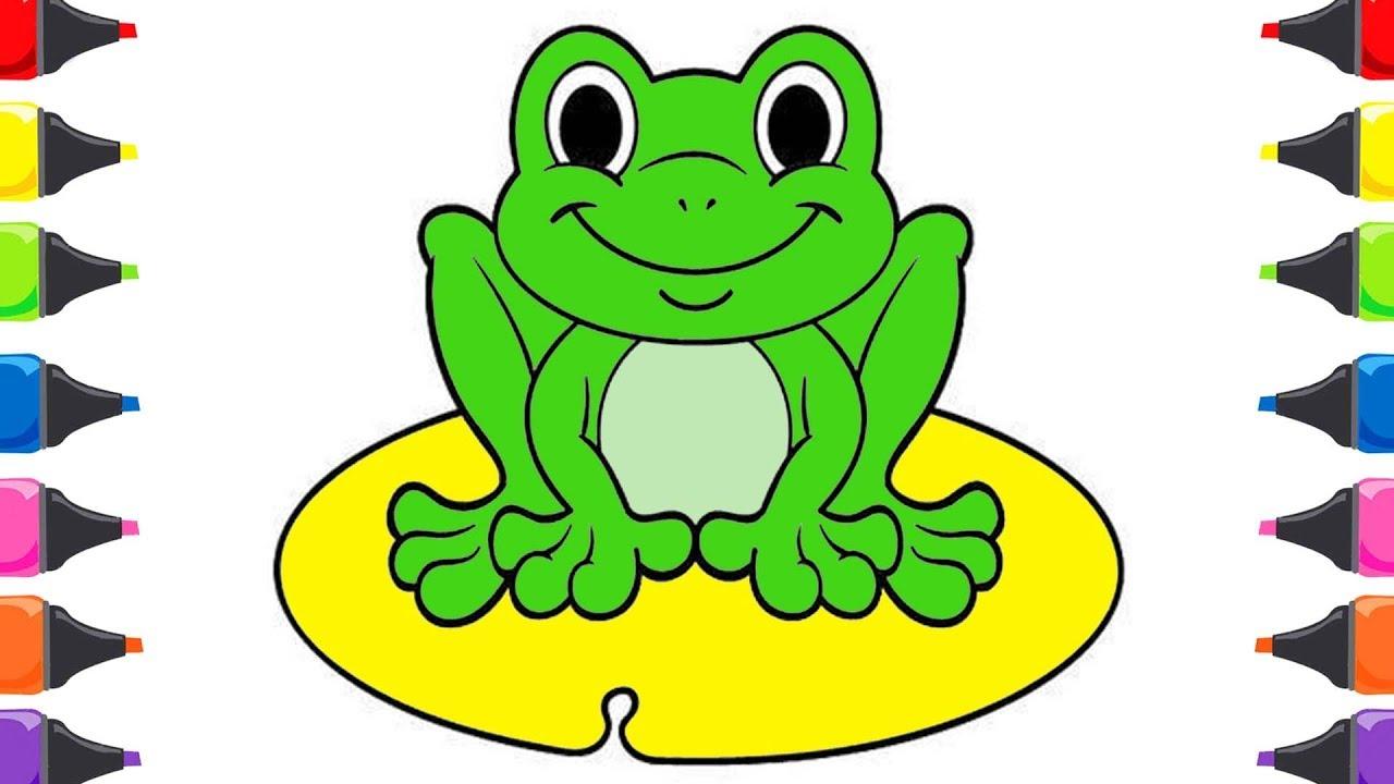 Küçük Kurbağa çocuk şarkısı Küçük Kurbağa Boyama Oyunu Youtube