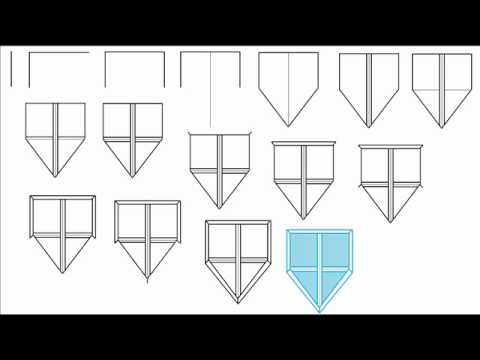 How To Draw A Kite Shield Step By Step Drawing Tutorial