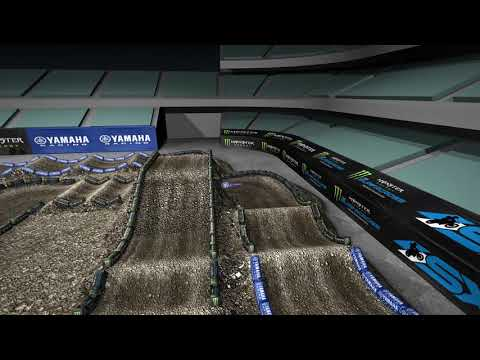 Monster Energy Supercross Yamaha Animated Track Map: Anaheim 1
