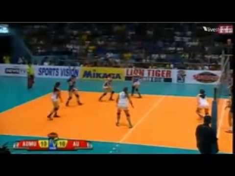 ADMU vs AU Shakey's V-League 11 Set 1 - YouTube