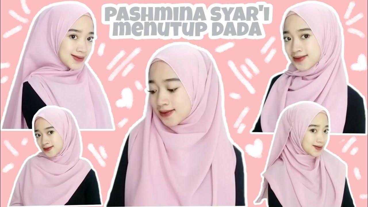 Tutorial Hijab Pashmina Syar I Menutup Dada Novah Safitri Youtube