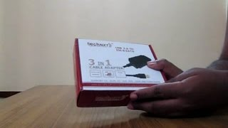 Technxt IDE/SATA to USB 3 in 1 converter Adapter Unboxing from ebay India