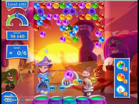 Bubble Witch 2 Saga Level 1792 with no booster