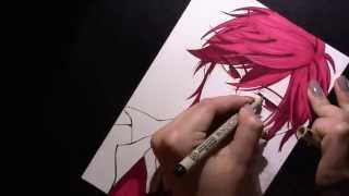 Speed Drawing Mikoto Mikoshiba (Mikorin) from Gekkan Shoujo Nozaki-kun