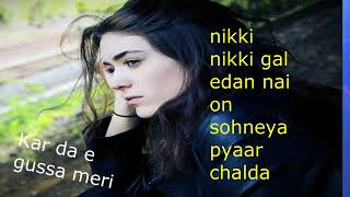 karda ae gussa meri nikki nikki gal da new love Romantic lyrics 2018 Anna Srudio   YouTube