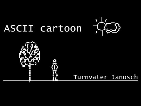 ASCII Art Cartoon - 500 subscribers special