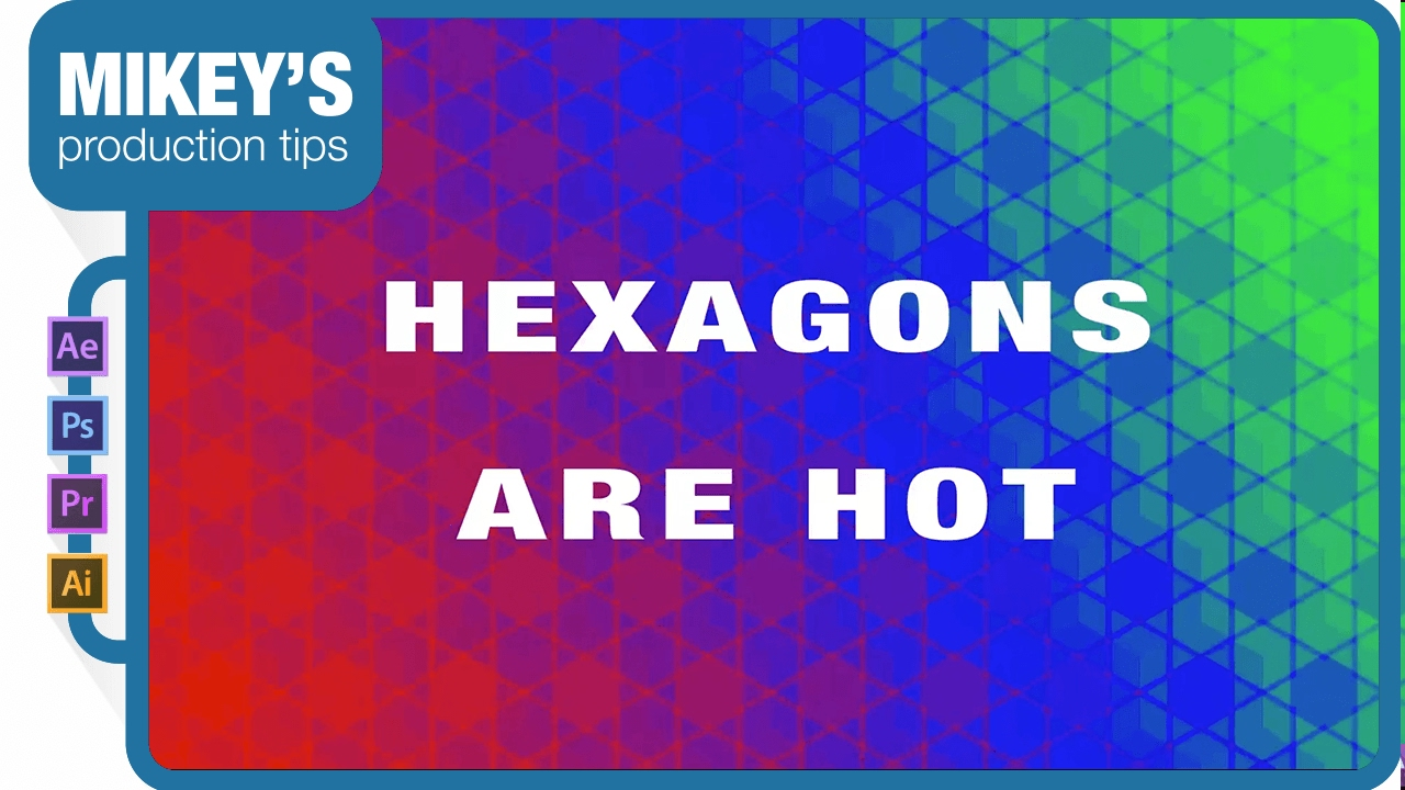 Hexagon background patterns after effects tutorial