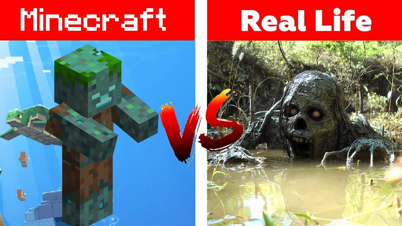 MINECRAFT VS REAL LIFE (mobs items) YouTube
