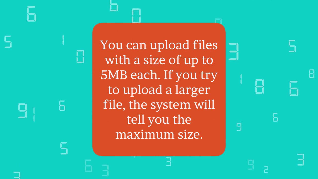 FAQ Admin - HOW LARGE CAN THE FILES I UPLOAD AS PART OF MY CONTENT BE?