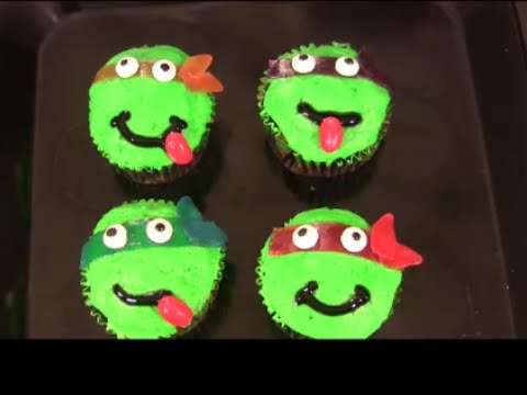 Easy TMNT Camouflage Cupcakes Tutorial
