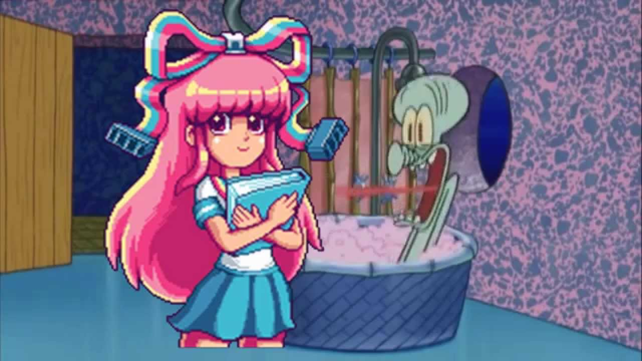Gravity Falls Wallpaper Anime Giffany From Gravity Falls Drops By Squidward S House