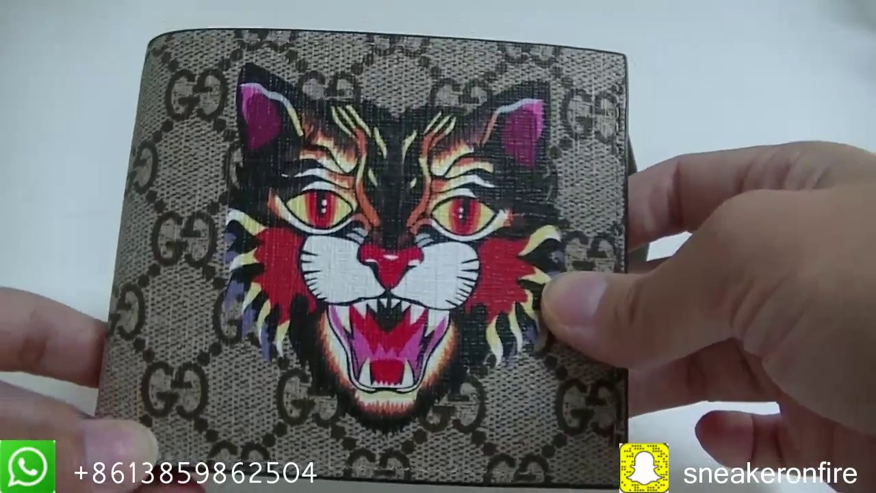 885b311a67a8 Fashion Angry Cat-print Leather Wallet HD Review From sneakeronfire ...