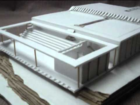 Maquette d 39 architecture complexe sportif youtube for Maquette d architecture