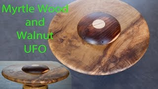 "22 1/2"" Myrtle Wood And Walnut Ufo"