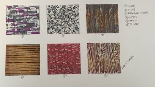 Abstract Texture Lesson #2: Wood, Stone, Brick and Timber