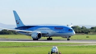 Thomson Boeing 787 Dreamliner Takeoff from Manchester Airport ! (Full HD 1080p)